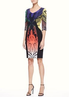 Etro Paisley Panel Dress, Multi/Black