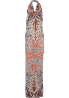 Etro Paisley-print jersey-crepe maxi dress