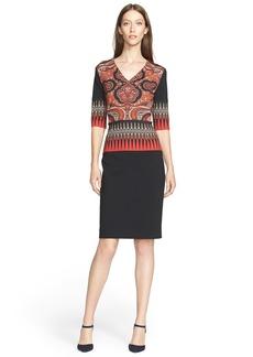 Etro Paisley Print Jersey Dress