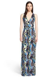 Etro Paisley Print Jersey Maxi Dress