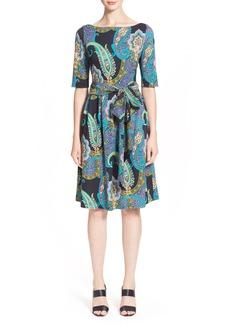 Etro Paisley Print Jersey Wrap Dress