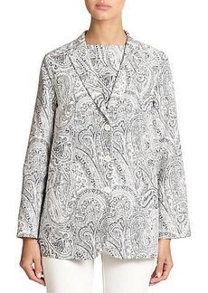 Etro Paisley-Print Oversized Jacket