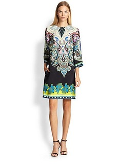 Etro Paisley-Print Silk Shift