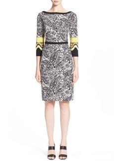 Etro Paisley Print Stretch Jersey Dress