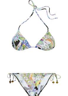 Etro Paisley-print triangle bikini