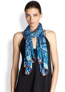 Etro Paisley Printed Silk Scarf