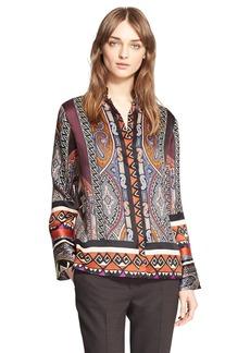 Etro Paisley Silk Organza Blouse