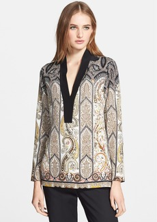 Etro Paisley Silk Tunic Top