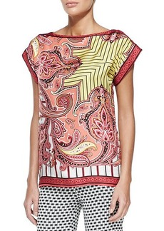 Etro Paisley Striped Foulard T-Shirt