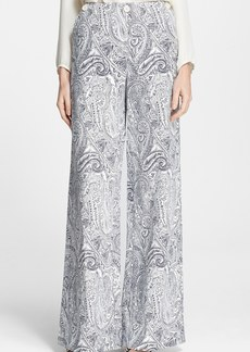 Etro Paisley Wide Leg Cotton Blend Pants
