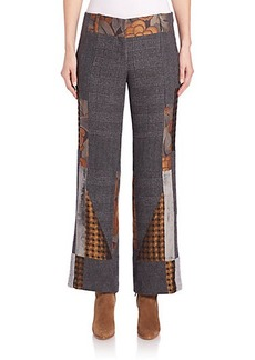 Etro Patchwork Cropped Flare Pants