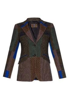 Etro Patchwork wool blazer