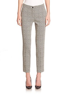 Etro Pebble-Print Cady Cropped Pants