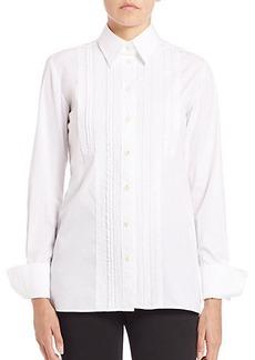 Etro Pintuck-Front Button-Down Shirt