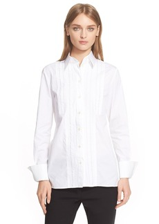 Etro Pleated Cotton Blouse