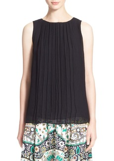 Etro Pleated Silk Georgette Blouse