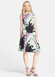 Etro Print Drop Waist Cady Dress
