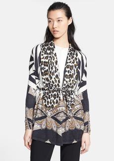 Etro Print Silk & Cashmere Cardigan