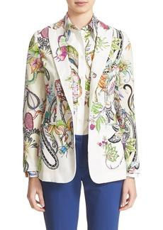 Etro Print Silk Blazer