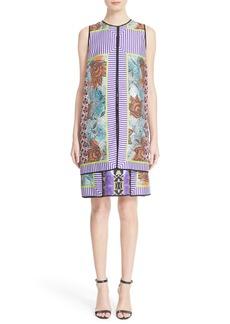 Etro Print Silk Layer Dress