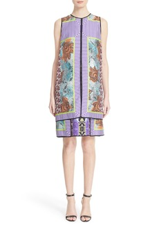 Etro Print Silk Layer Dress