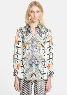 Etro Print Stretch Cotton Shirt