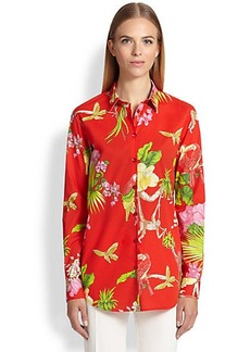 Etro Printed Button-Down Blouse