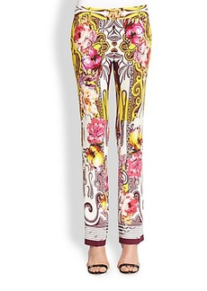 Etro Printed Cady Pants