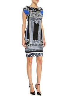 Etro Printed Cap-Sleeve Jersey Dress