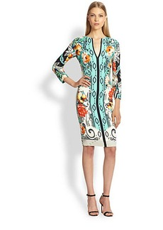 Etro Printed Jersey Sheath