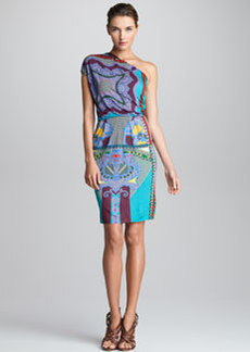 Etro Printed One-Shoulder Dress