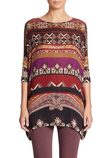 Etro Printed Oversized Jersey Top