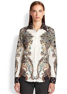 Etro Printed Poplin Shirt