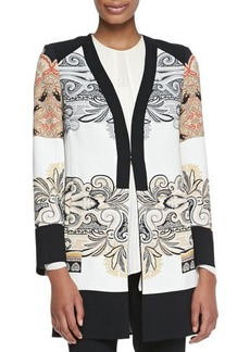 Etro Printed Short Topper Coat