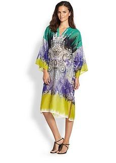 Etro Printed Silk Caftan