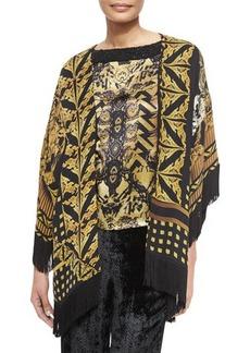 Etro Printed Silk Jacket with Fringe  Printed Silk Jacket with Fringe