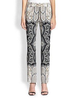 Etro Printed Straight-Leg Pants