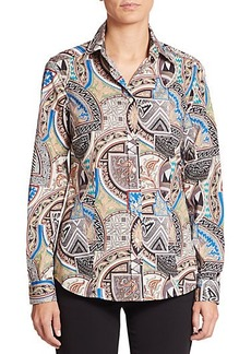 Etro Printed Stretch-Cotton Shirt