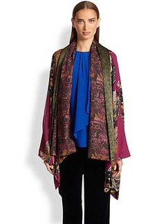 Etro Printed Wool & Silk Cape