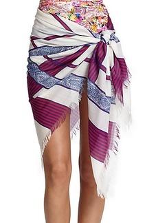 Etro Printed Wool & Silk Sarong