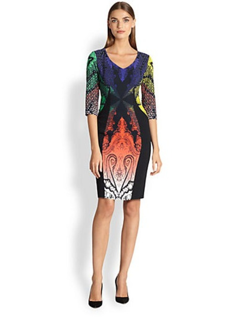 Etro Rainbow Paisley Cady Dress