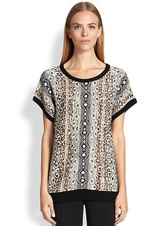 Etro Reptile Knit Top