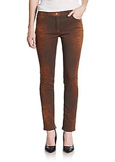 Etro Reptile-Pattern Jeans