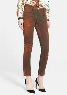 Etro Reptile Print Skinny Jeans