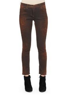 Etro Reptile-Print Skinny Jeans