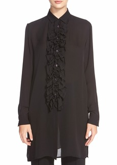 Etro Ruffled Silk Tunic Blouse
