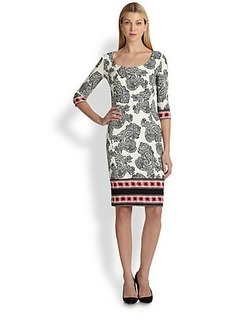 Etro Scoopneck Printed Jersey Dress