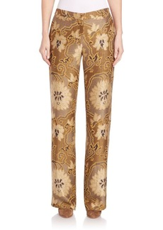 Etro Scroll Jacquard Wide-Leg Pants