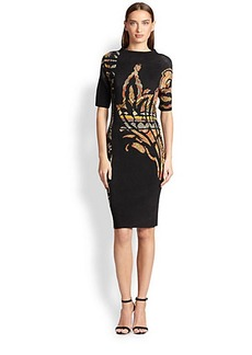 Etro Sculpted-Neckline Dress