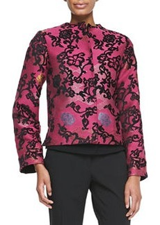 Etro Short Embroidered Jacquard Jacket